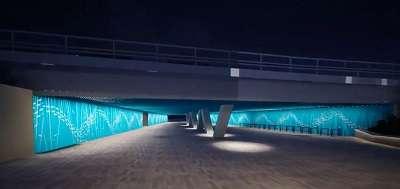 Kuvassa on havainnekuva rakennettavasta Tschetschulininportin alikulusta.