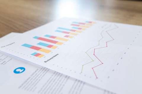 Kuvassa taloudellisia graafeja