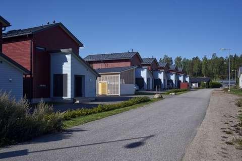Småhus i Grundbacka.